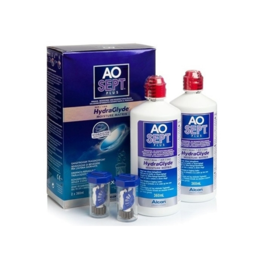 Aosept Plus with Hydraglyde 2*360 ml Duopack