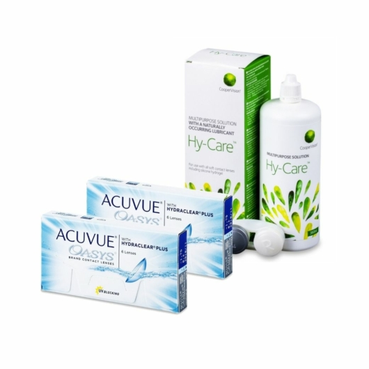 2xAcuvue Oasys with Hydraclear Plus 6 db + 1xHy-Care 360 ml