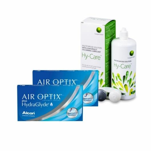 2xAir Optix Plus Hydraglyde 6 db + 1xHy-Care 360 ml